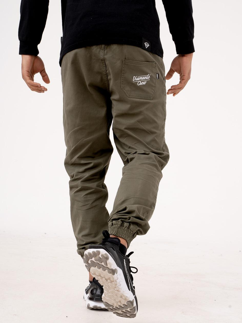 Spodnie Materiałowe Jogger Diamante Crew Classic Khaki