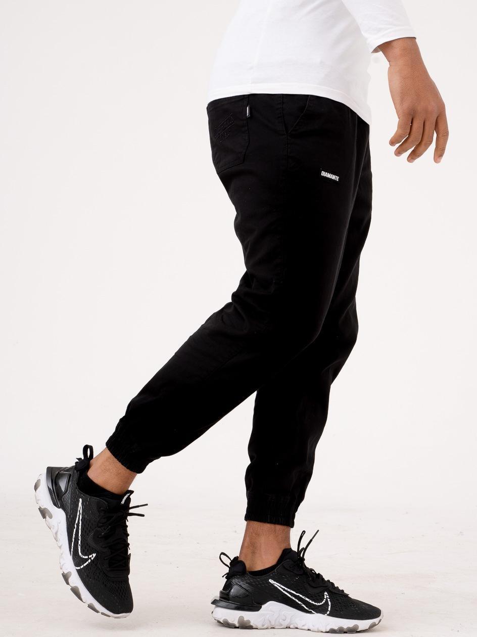 Spodnie Materiałowe Jogger Diamante Wear Petite Czarne