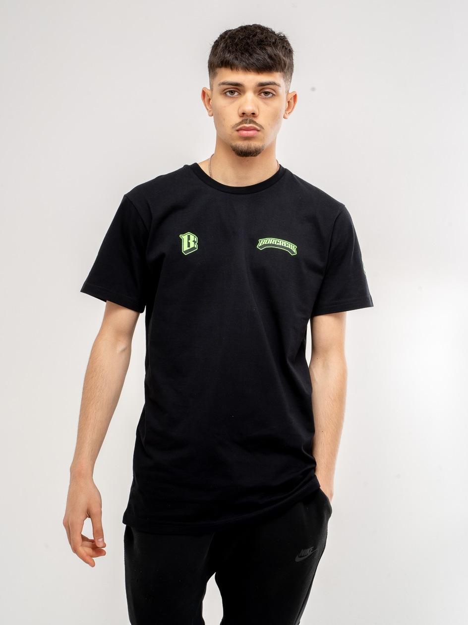 Koszulka Z Krótkim Rękawem BOR Premium Logo Czarna
