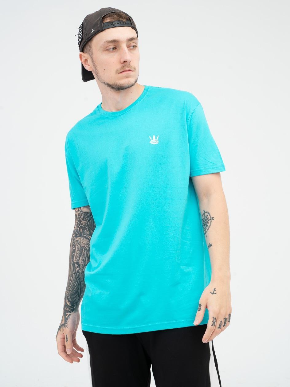 Koszulka Z Krótkim Rękawem Jigga Wear Mini Crown Turkusowa