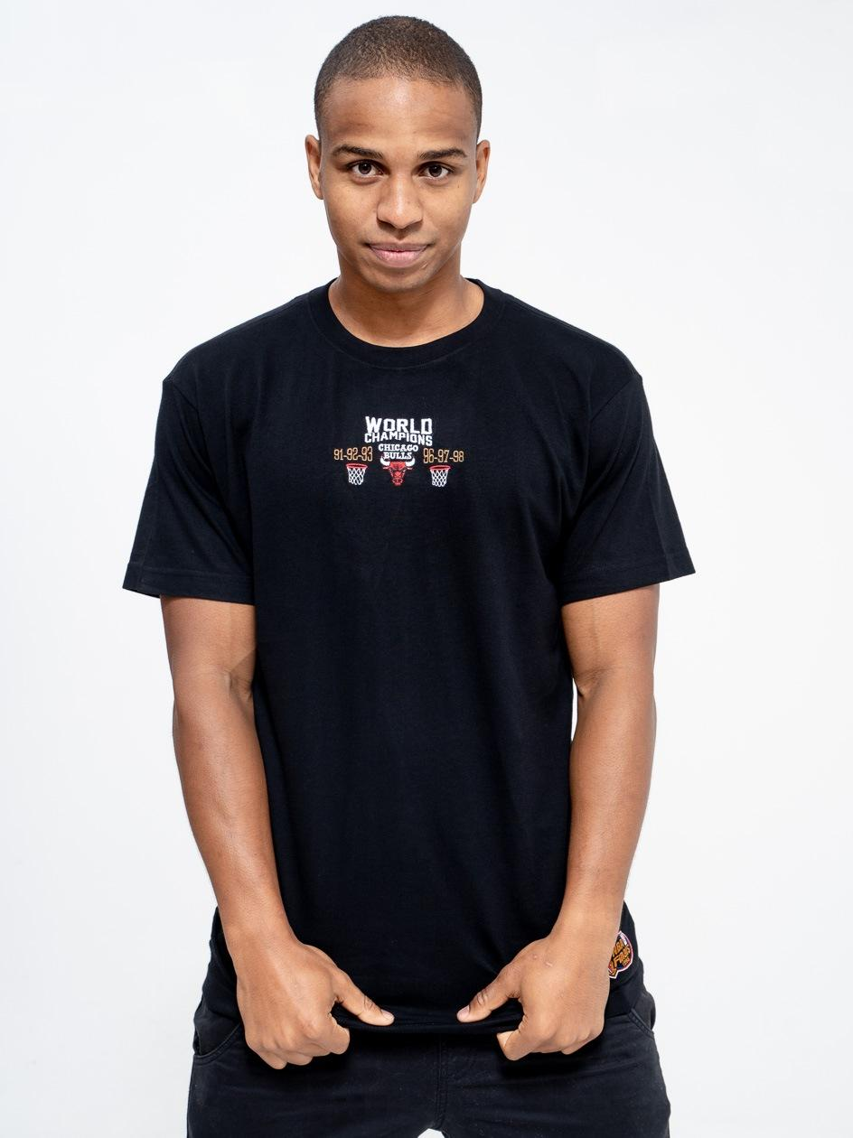 Koszulka Z Krótkim Rękawem Mitchell & Ness Chicago Bulls NBA Deadstock Champs Czarna