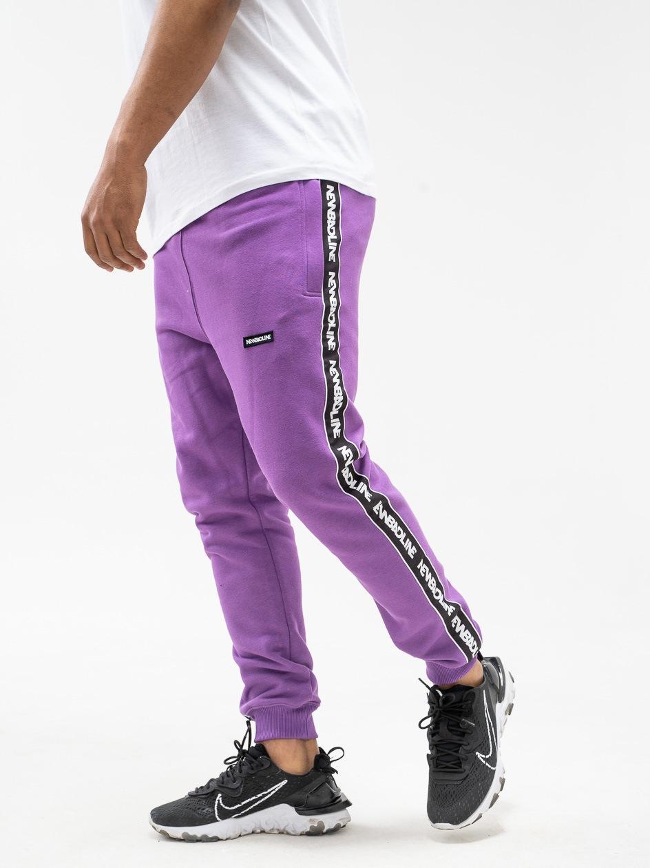 Spodnie Dresowe New Bad Line Classic Lampas Fioletowe