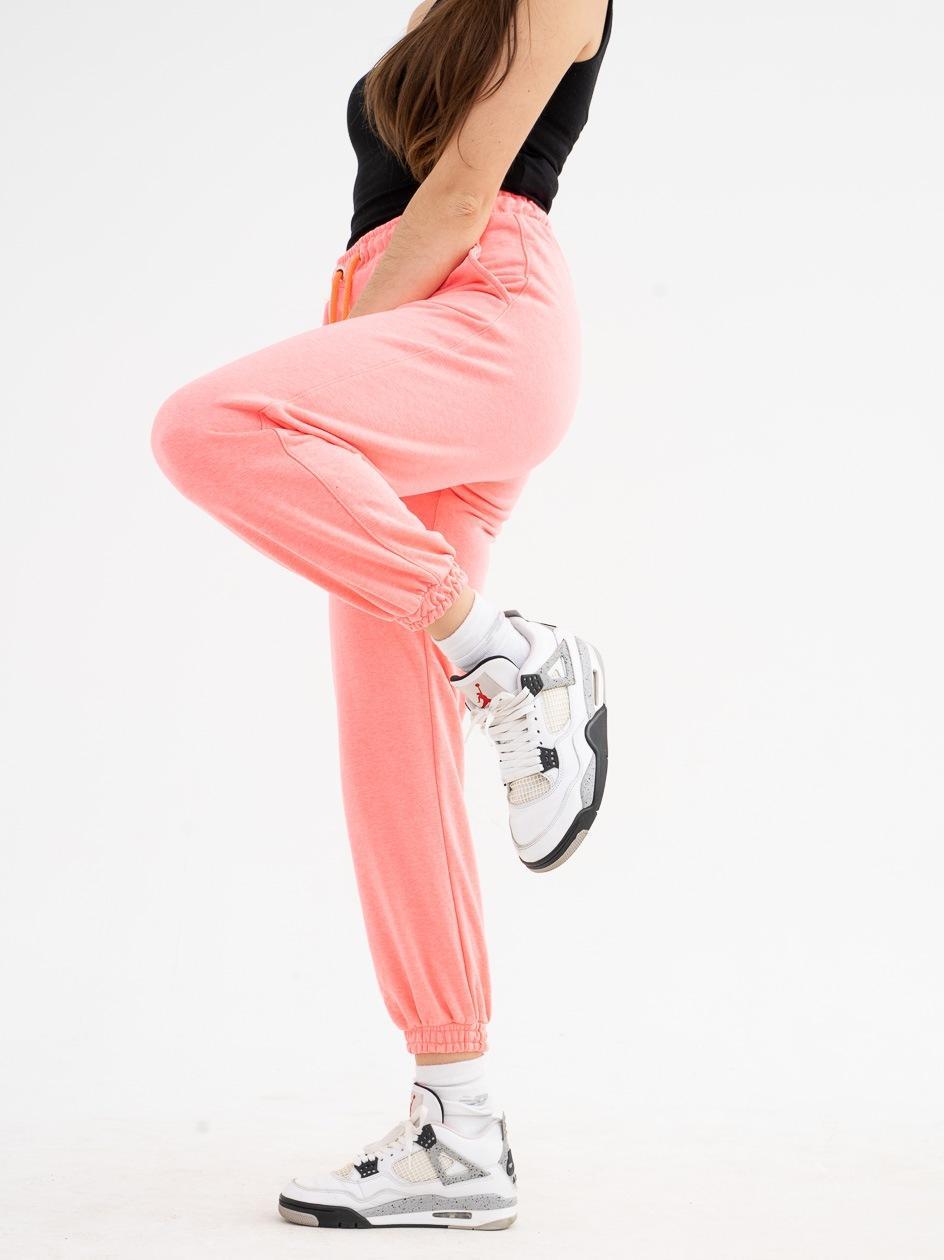 Spodnie Dresowe Point X Loose Neonowe Różowe