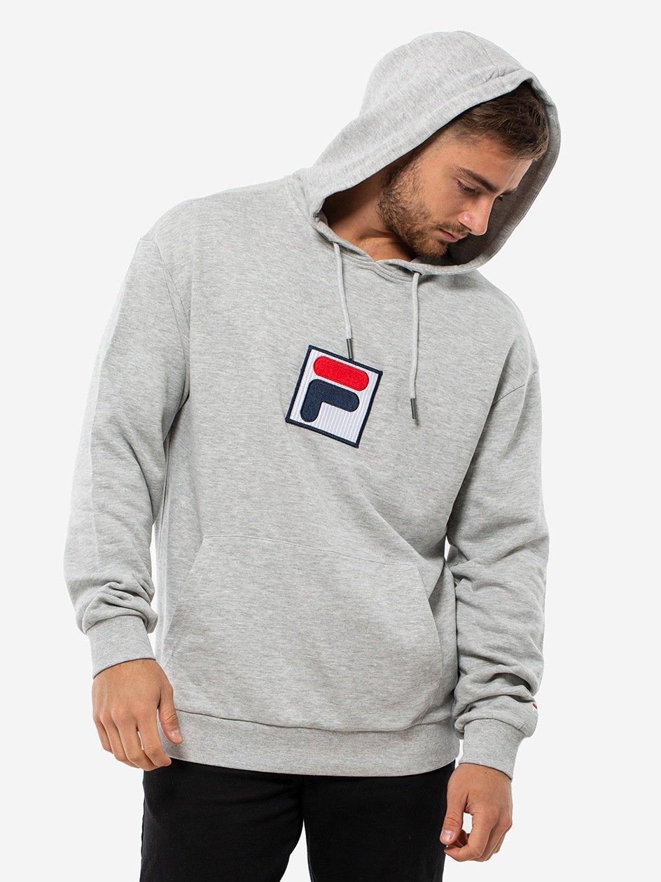 Shawn Hooded Sweatshirt 2.0 Light Grey Melange Bros