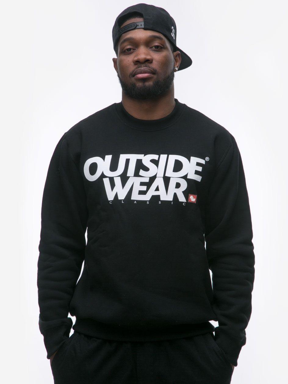 Bluza Bez Kaptura Outsidewear Classic Czarna