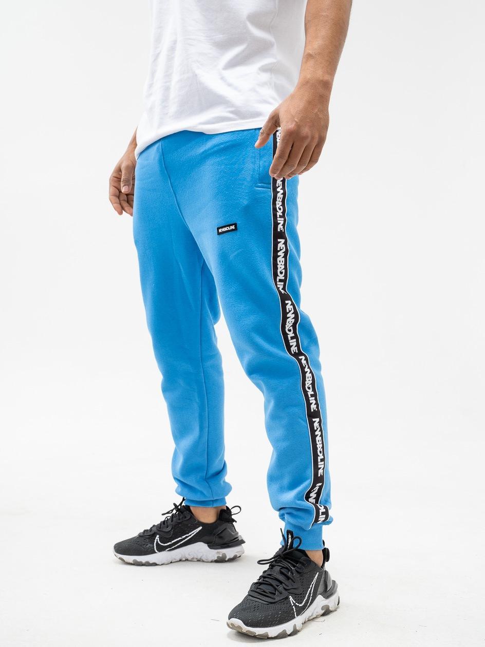 Spodnie Dresowe New Bad Line Classic Lampas Niebieskie