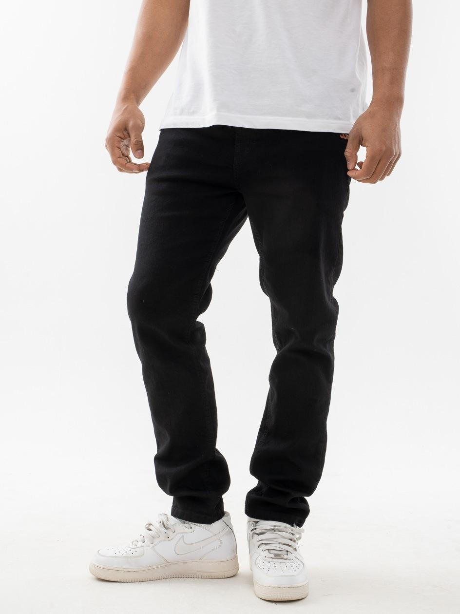 Spodnie Jeansowe Slim SSG Front Czarne