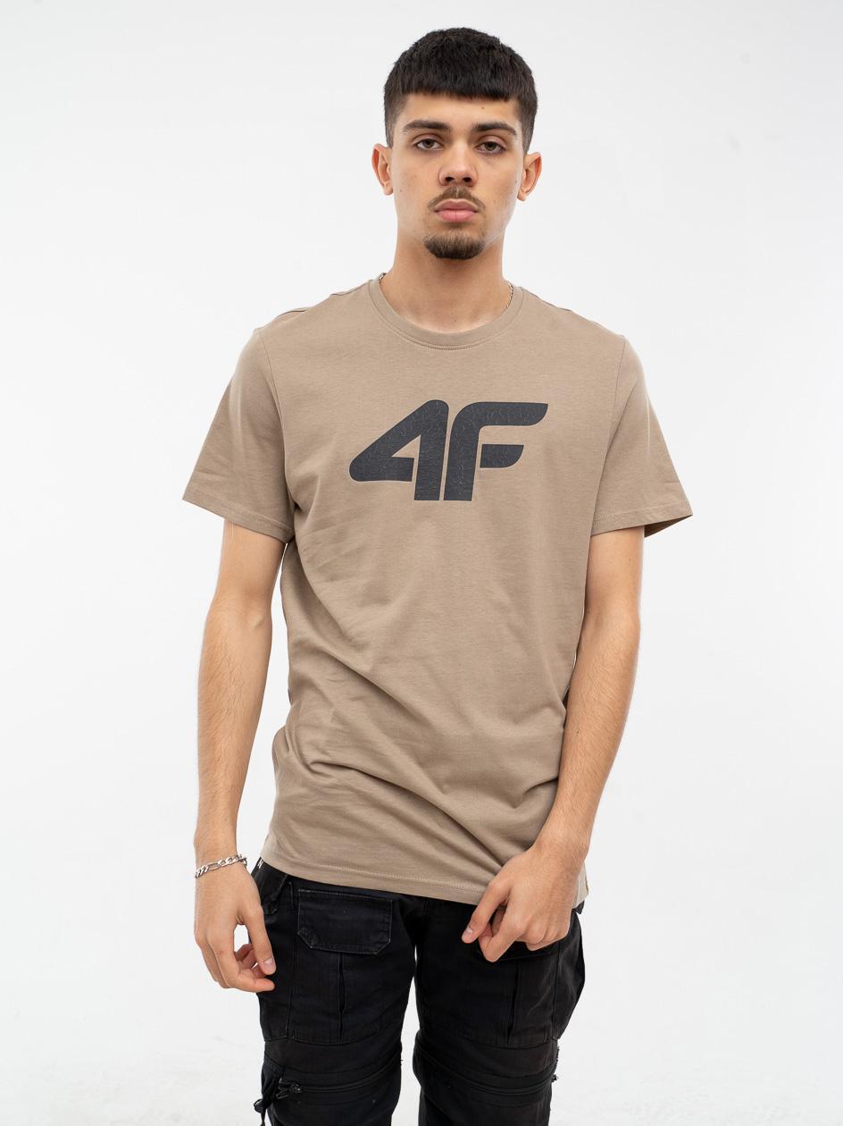 Koszulka Z Krótkim Rękawem 4F Broken Logo Jasna Brązowa