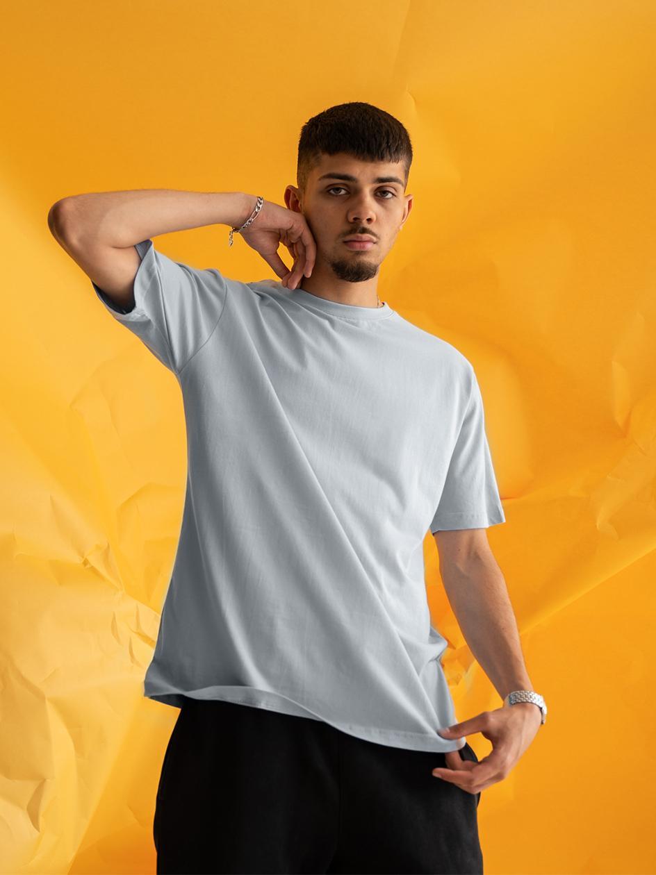 Koszulka Z Krótkim Rękawem Urban City No Logo Basic Szara