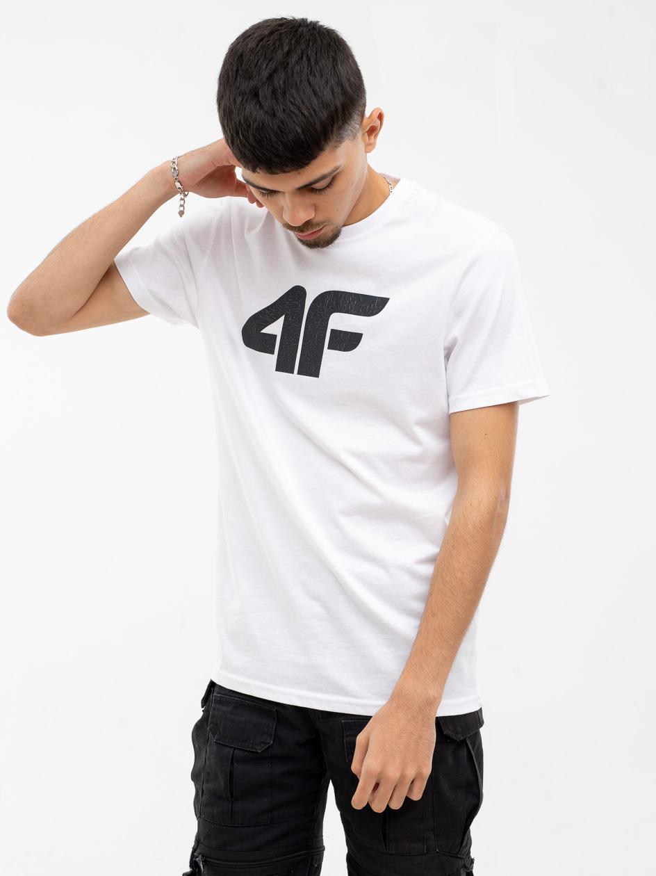 Koszulka Z Krótkim Rękawem 4F Broken Logo Biała