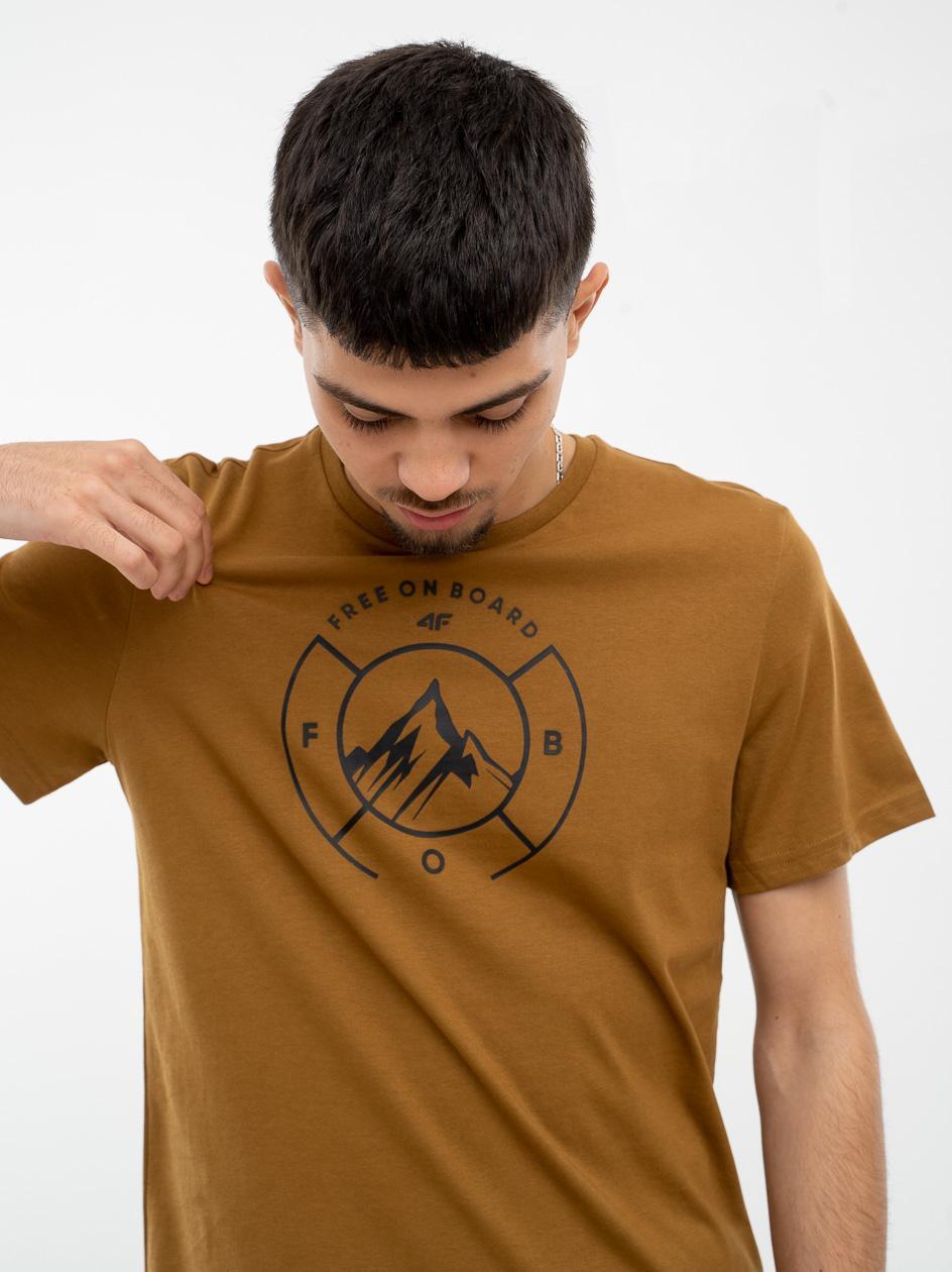 Koszulka Z Krótkim Rękawem 4F Free On Board Beżowa