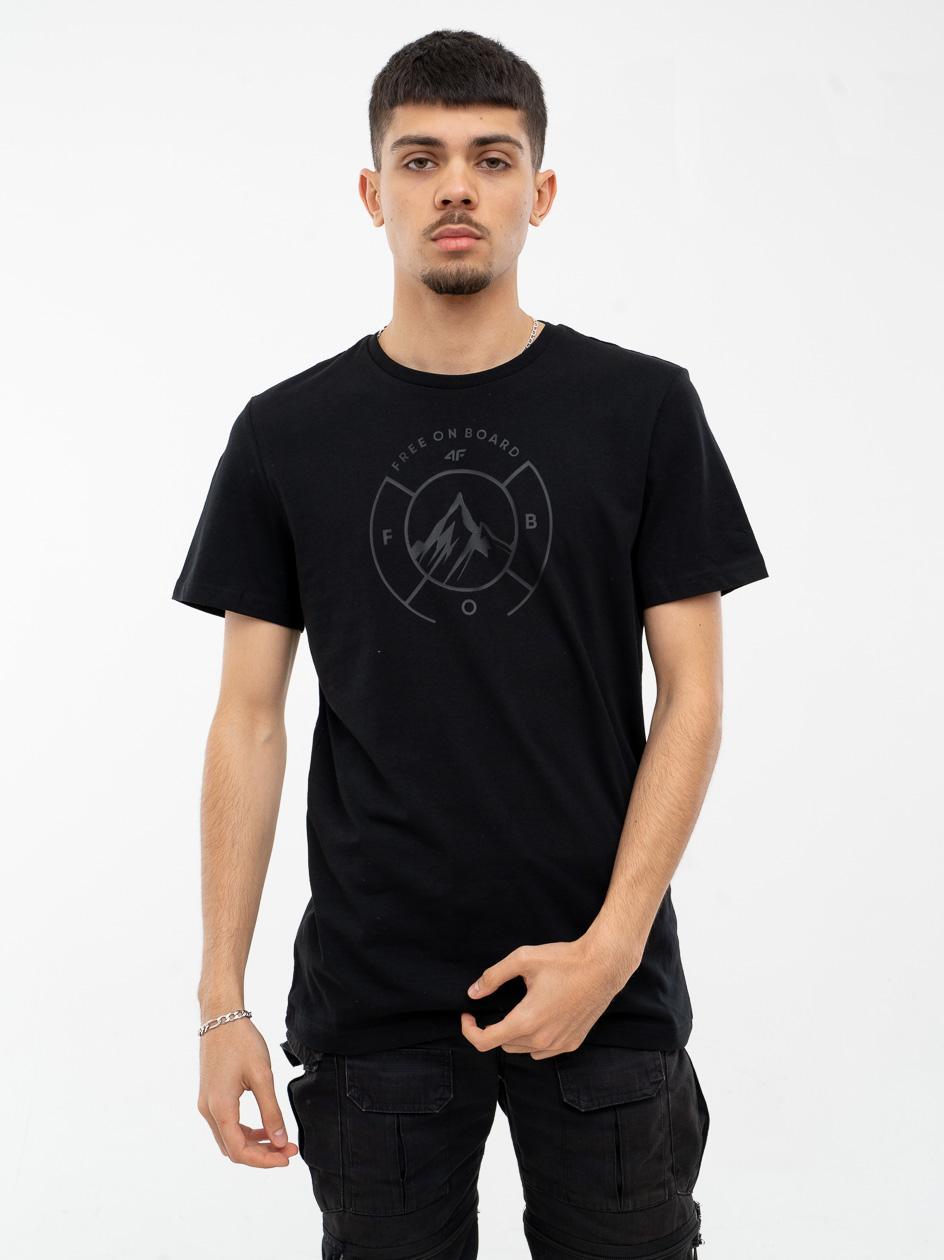Koszulka Z Krótkim Rękawem 4F Free On Board Czarna