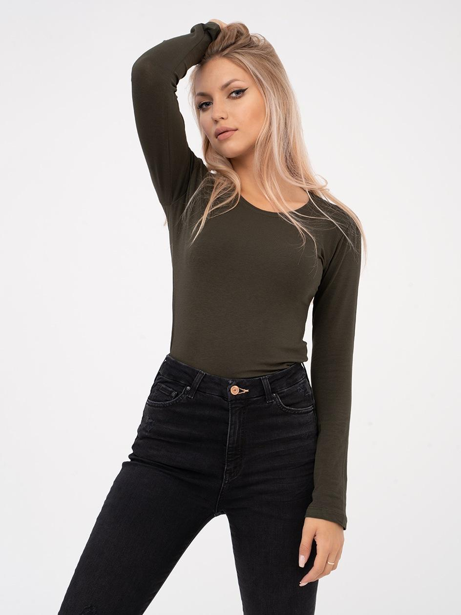 Damska Koszulka Z Długim Rękawem Point X Basic Khaki