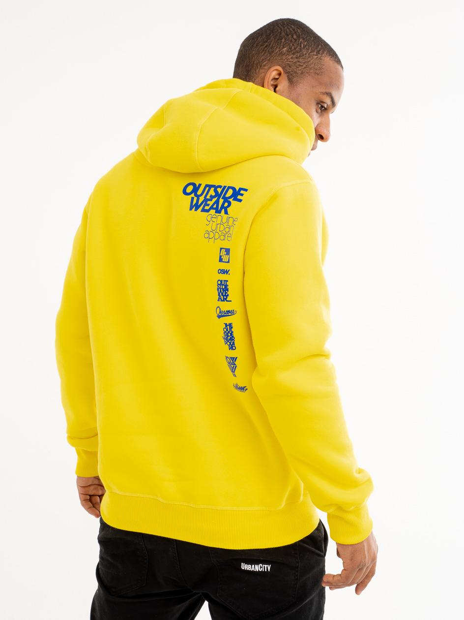 Bluza Z Kapturem Outsidewear Classic Żółta
