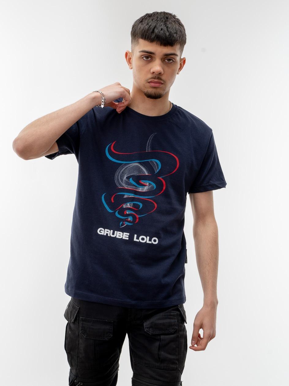 Koszulka Z Krótkim Rękawem Grube Lolo Colour Smoke Granatowa