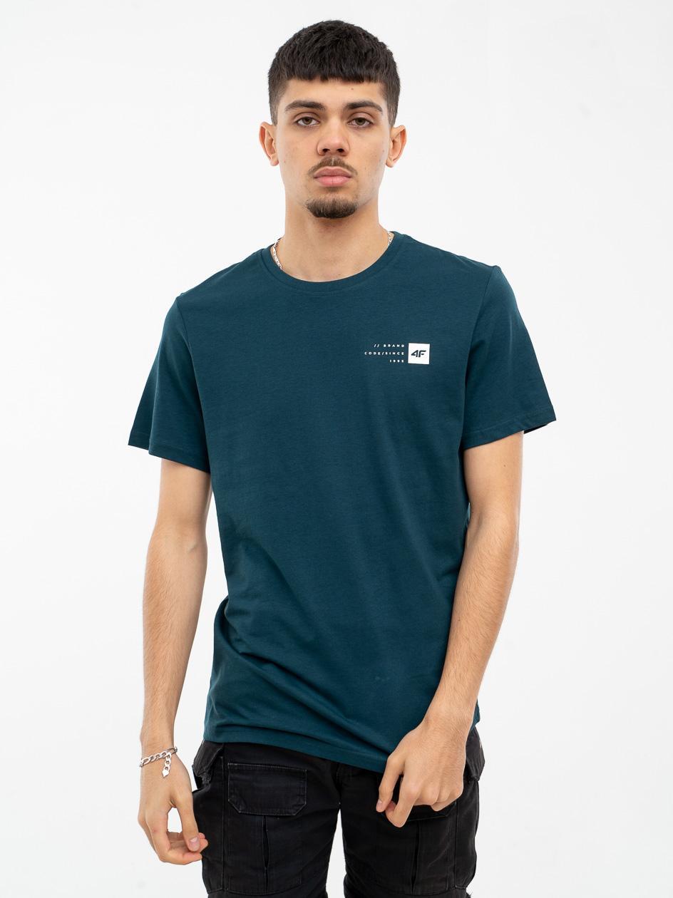 Koszulka Z Krótkim Rękawem 4F Square Logo Zielona