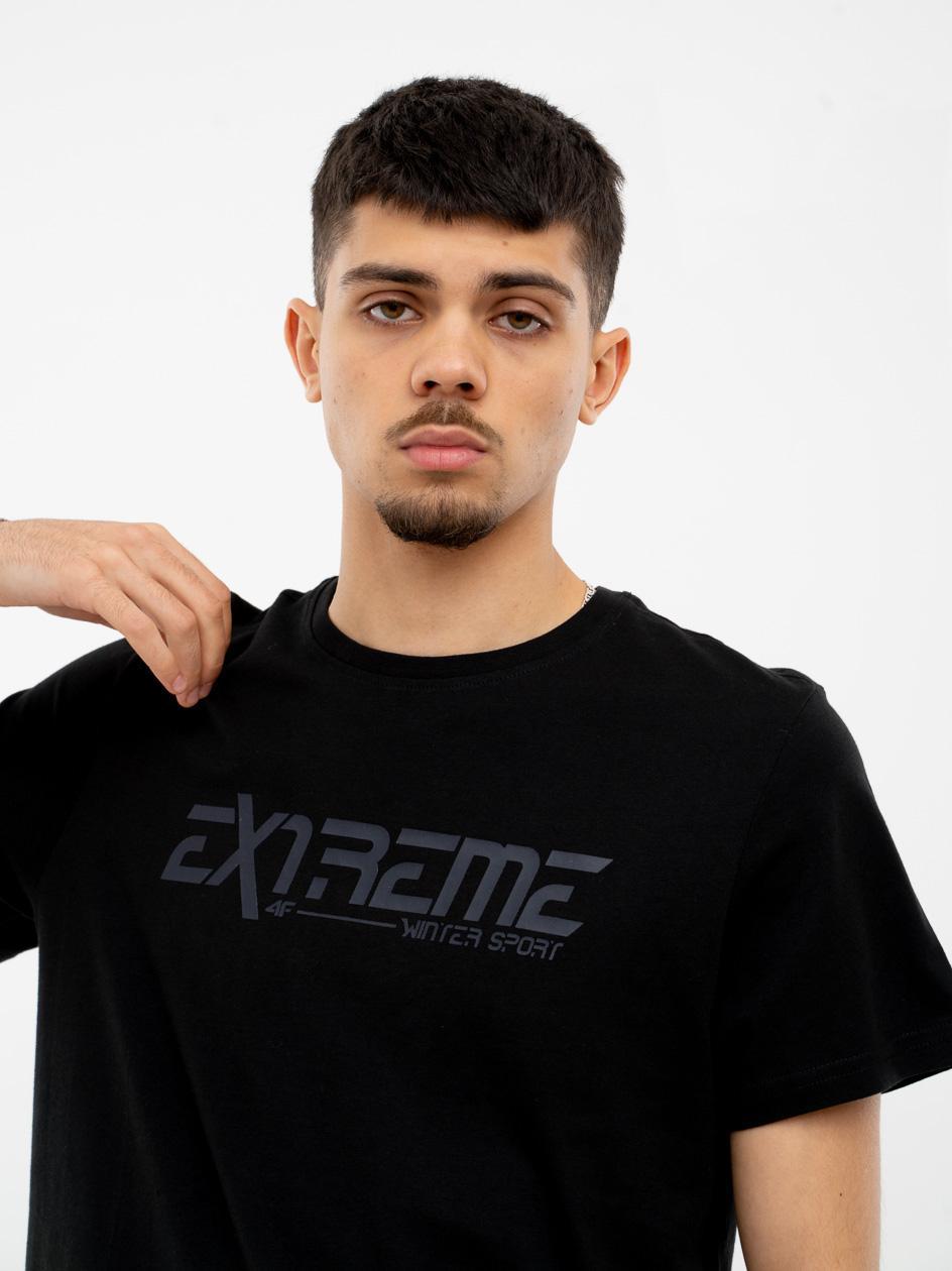 Koszulka Z Krótkim Rękawem 4F Extreme Czarne Logo / Czarna