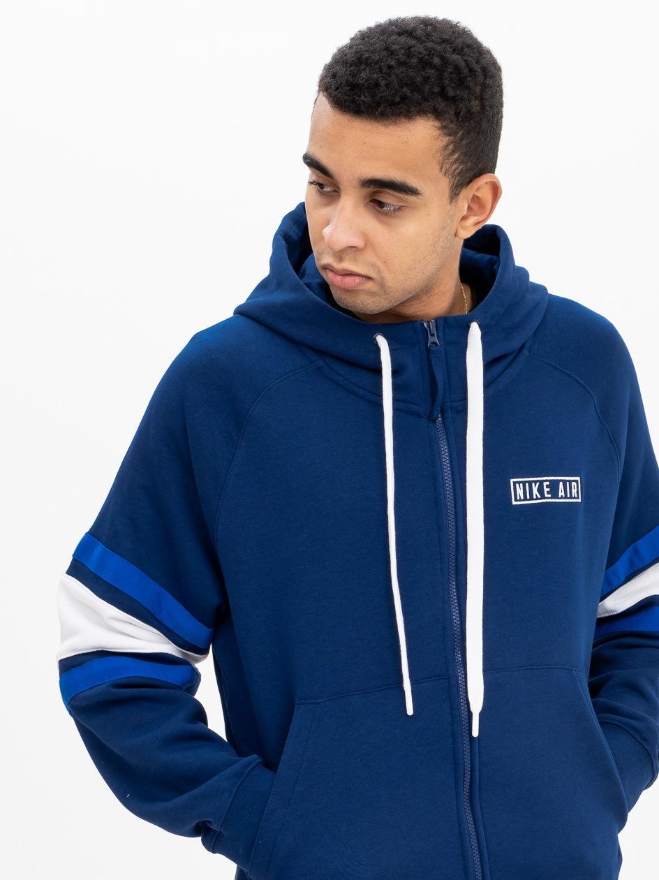 Bluza Z Kapturem Rozpinana Nike NSW Nike Air Ciemna Niebieska