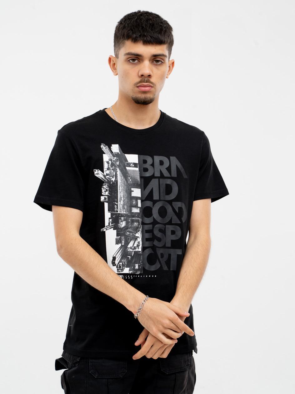 Koszulka Z Krótkim Rękawem 4F Brand Code Czarna