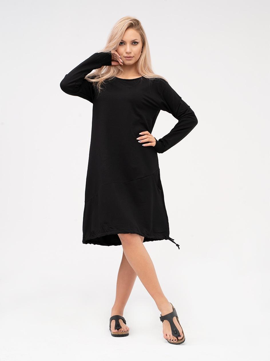 Sukienka Z Długim Rękawem Point X Welt Czarna