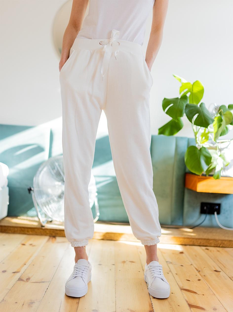 Spodnie Dresowe Point X Pure Białe