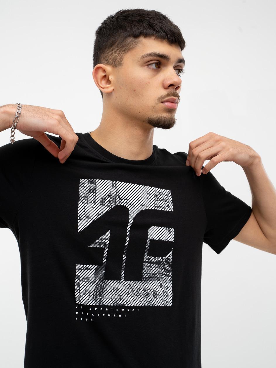Koszulka Z Krótkim Rękawem 4F Stripe Logo City Czarna