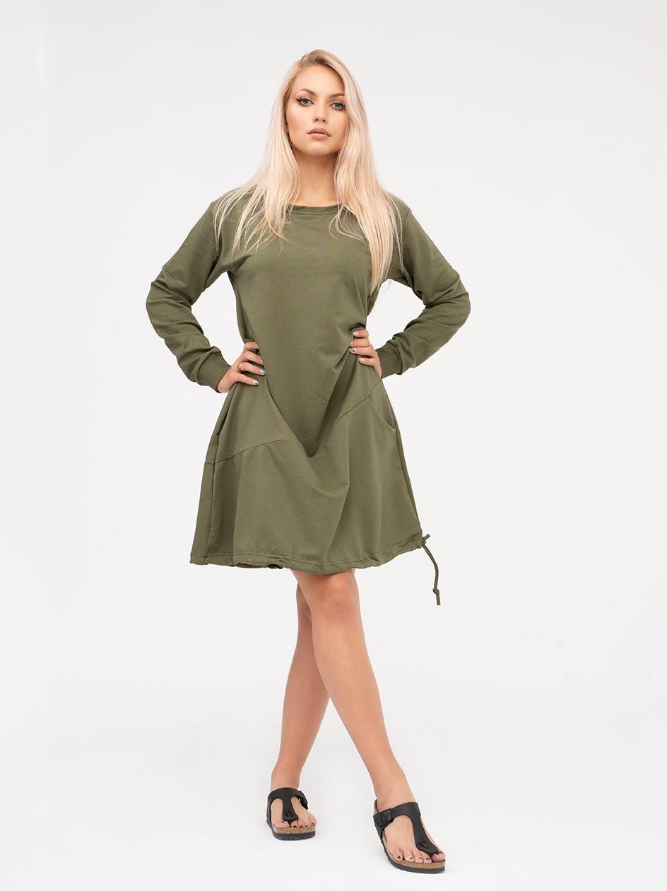 Sukienka Z Długim Rękawem Point X Welt Khaki