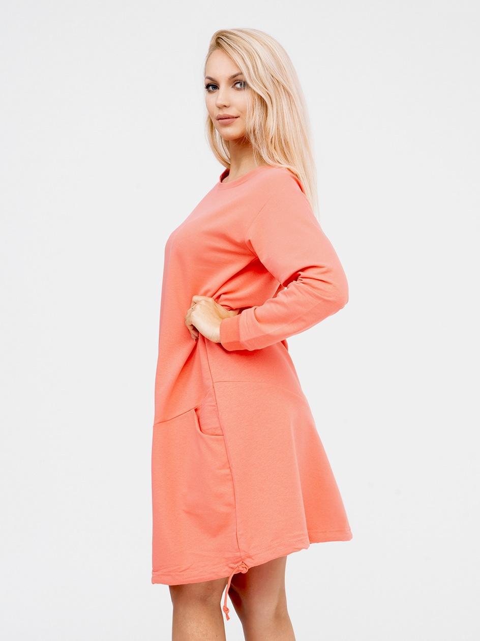Sukienka Z Długim Rękawem Point X Welt Różowa