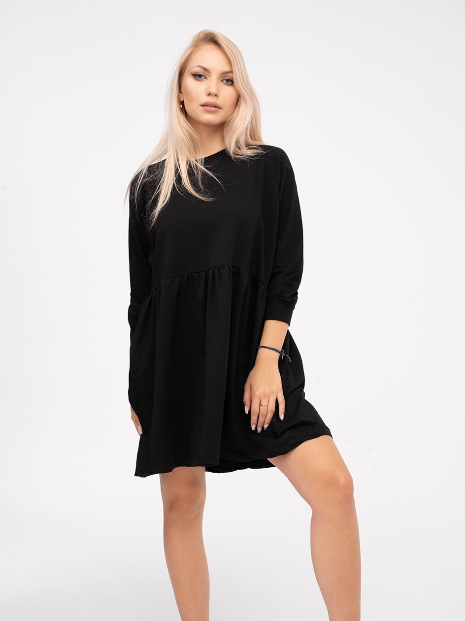 Sukienka Z Długim Rękawem Point X Basic Czarna