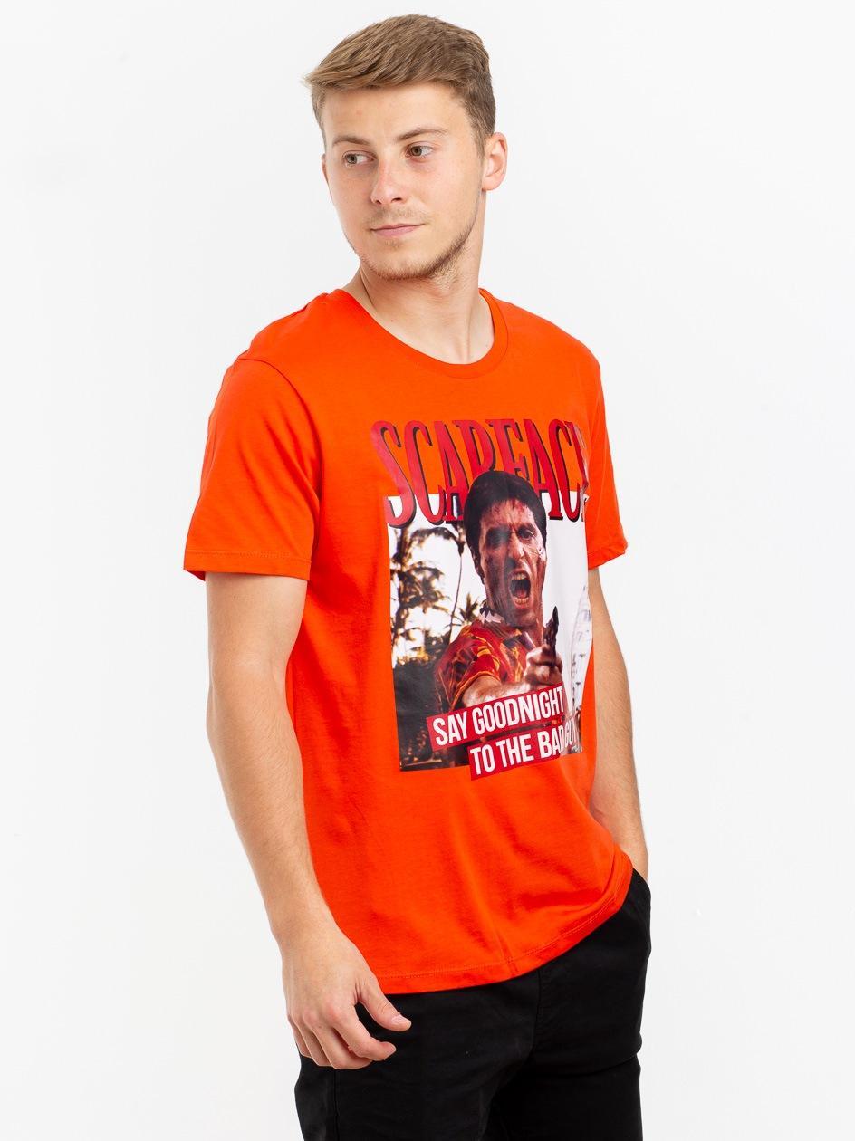 Koszulka Z Krótkim Rękawem Plus Eighteen Tony The Bad Guy Pomarańczowa