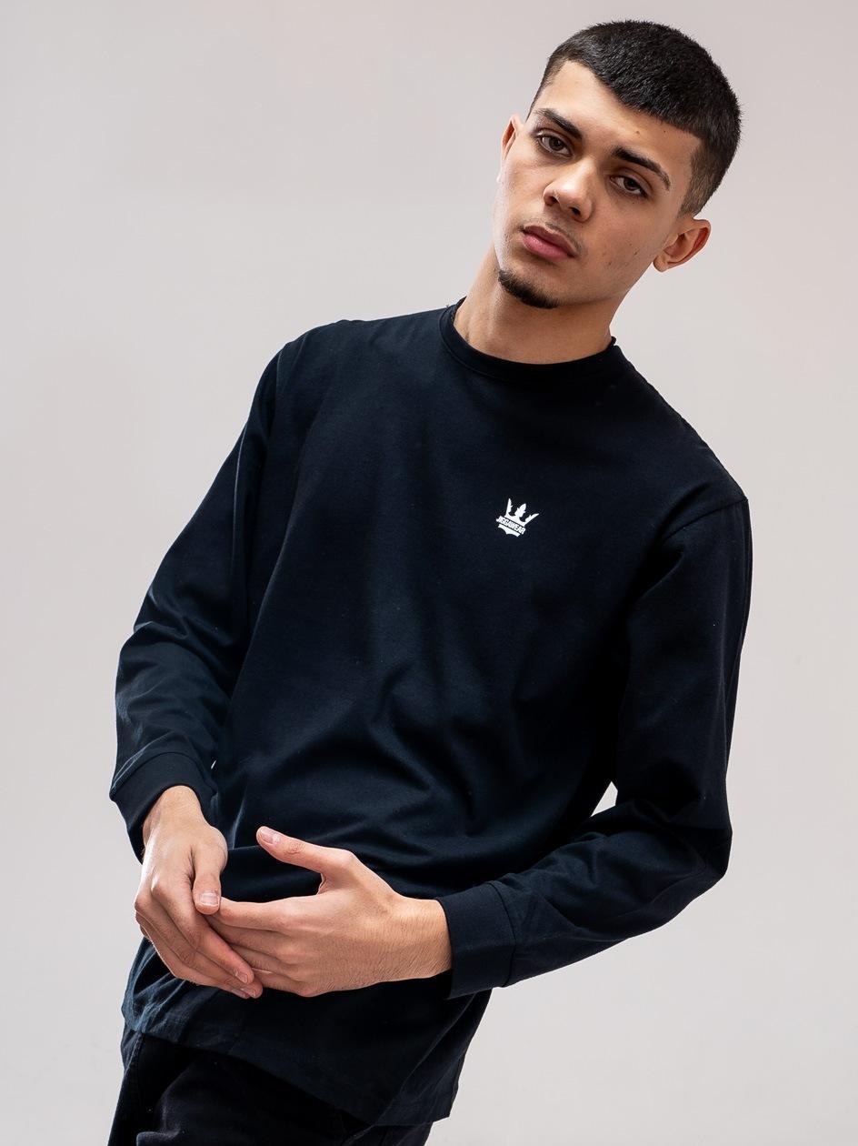 Koszulka Z Długim Rękawem Jigga Wear Mini Crown Czarna