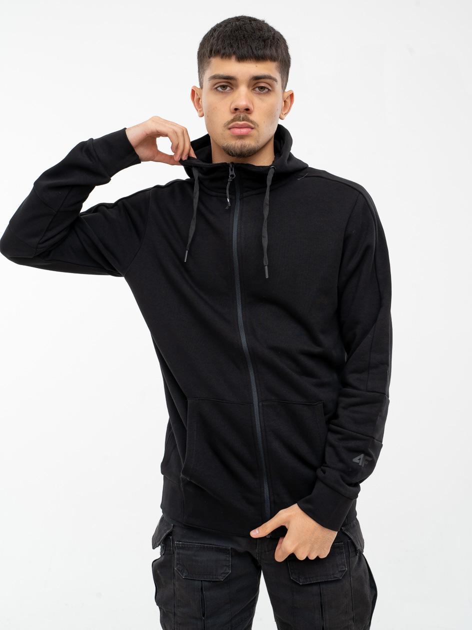 Rozpinana Bluza Z Kapturem 4F Basic Czarna
