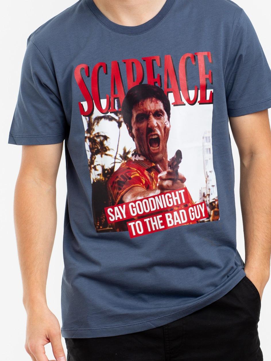 Koszulka Z Krótkim Rękawem Plus Eighteen Tony The Bad Guy Stalowo Niebieska