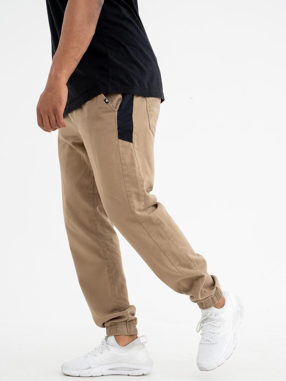 Spodnie Materiałowe Jogger Jigga Nexto Beżowe