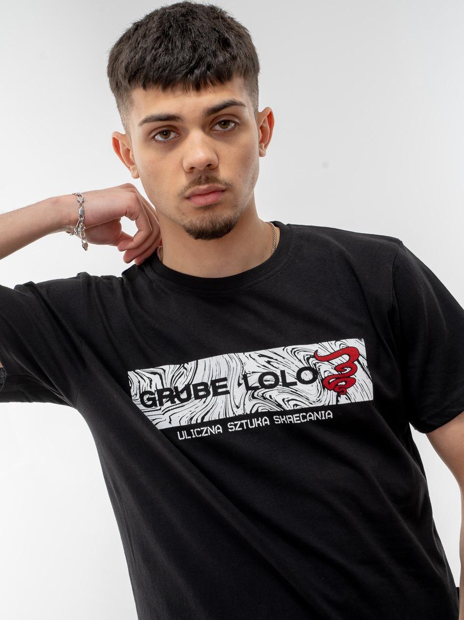 Koszulka Z Krótkim Rękawem Grube Lolo Wavy Box Logo Czarna