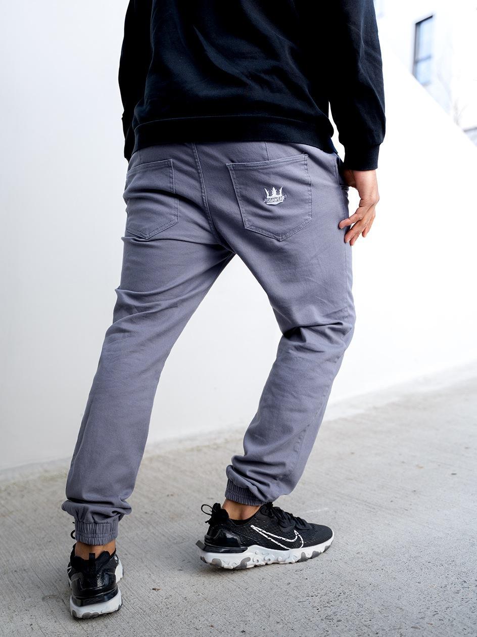 Spodnie Jogger Jigga Crown Szare / Białe
