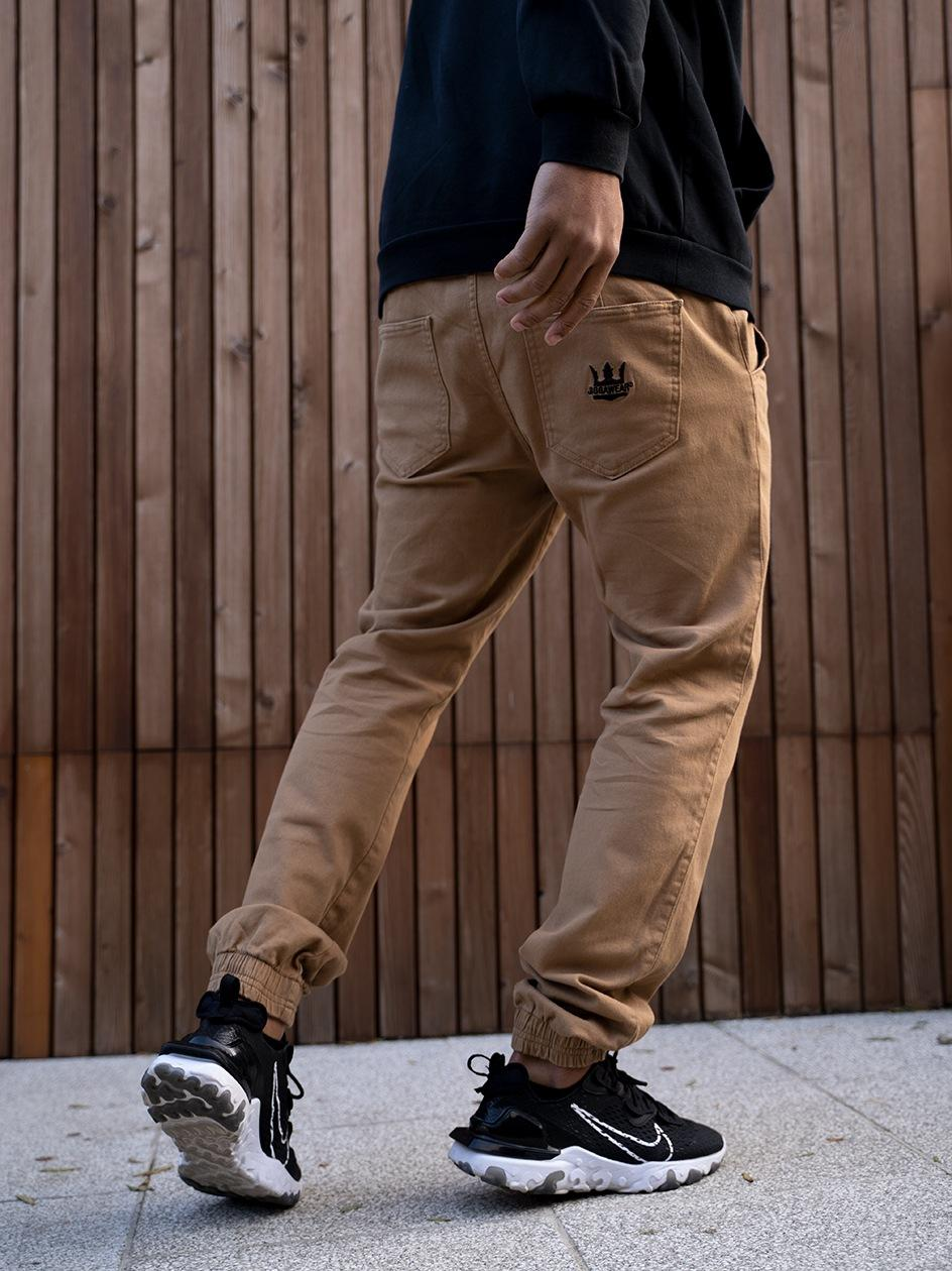 Spodnie Jogger Jigga Crown Ciemne Brązowe / Czarne