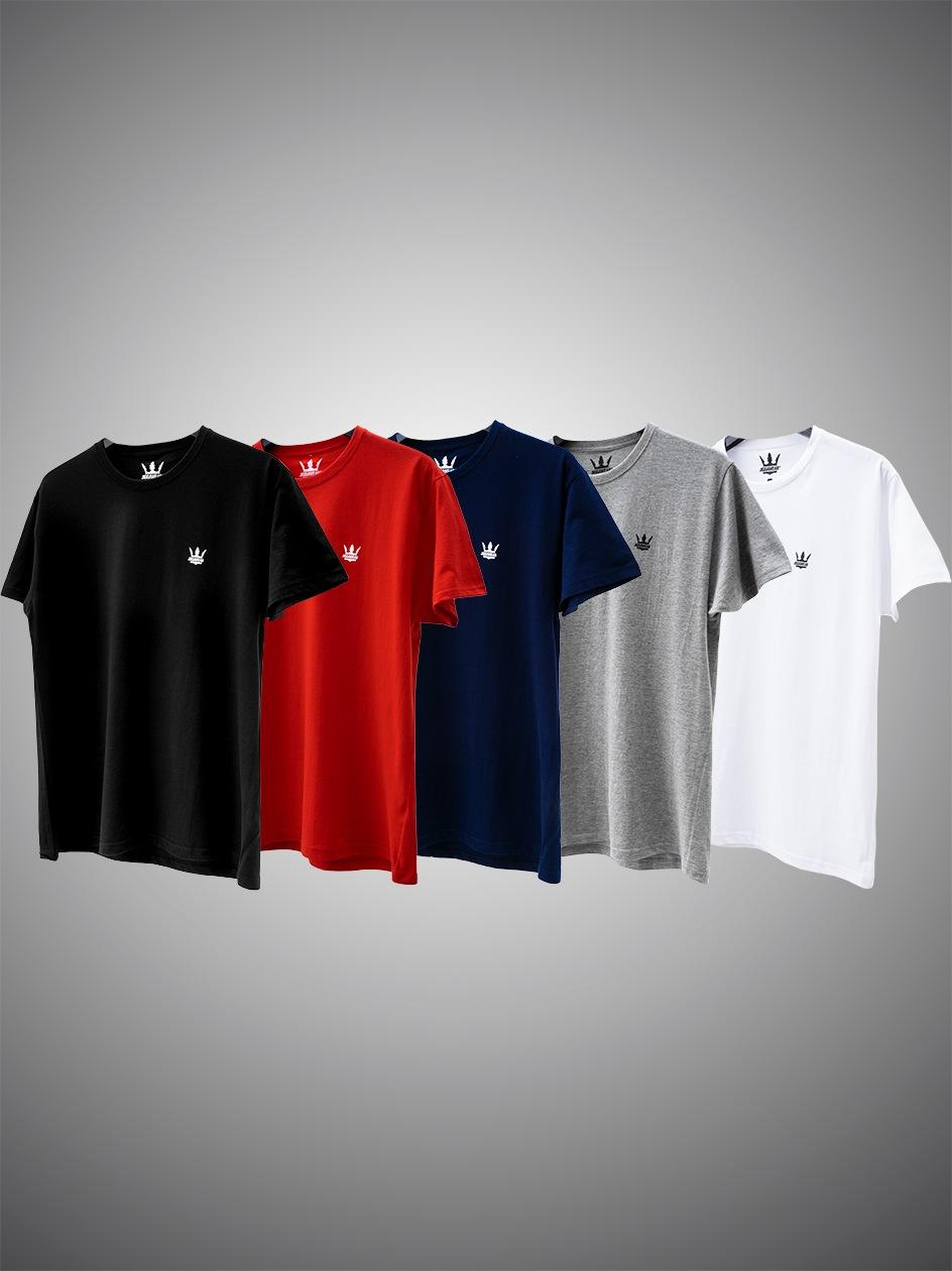 Zestaw 5 T-Shirtów Jigga Wear Mini Crown 5 Kolorów