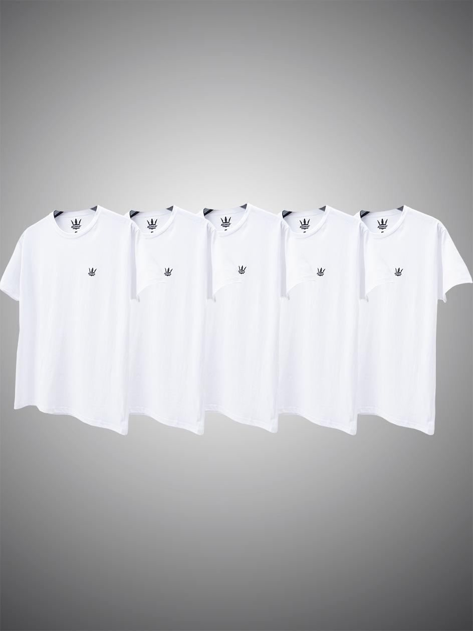 Zestaw 5 T-Shirtów Jigga Wear Mini Crown Białych