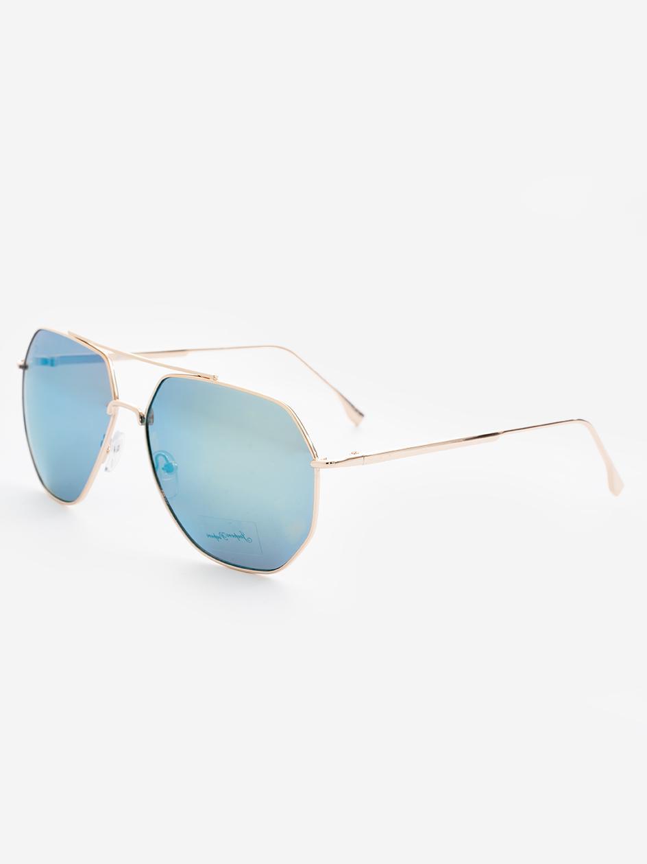 Okulary Przeciwsłoneczne Jeepers Peepers JP18591Aviator Style In Green Revo Złote