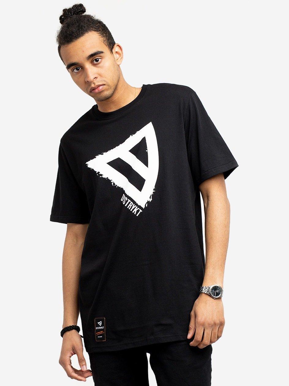 Koszulka Z Krótkim Rękawem Dystrykt Logo Czarna
