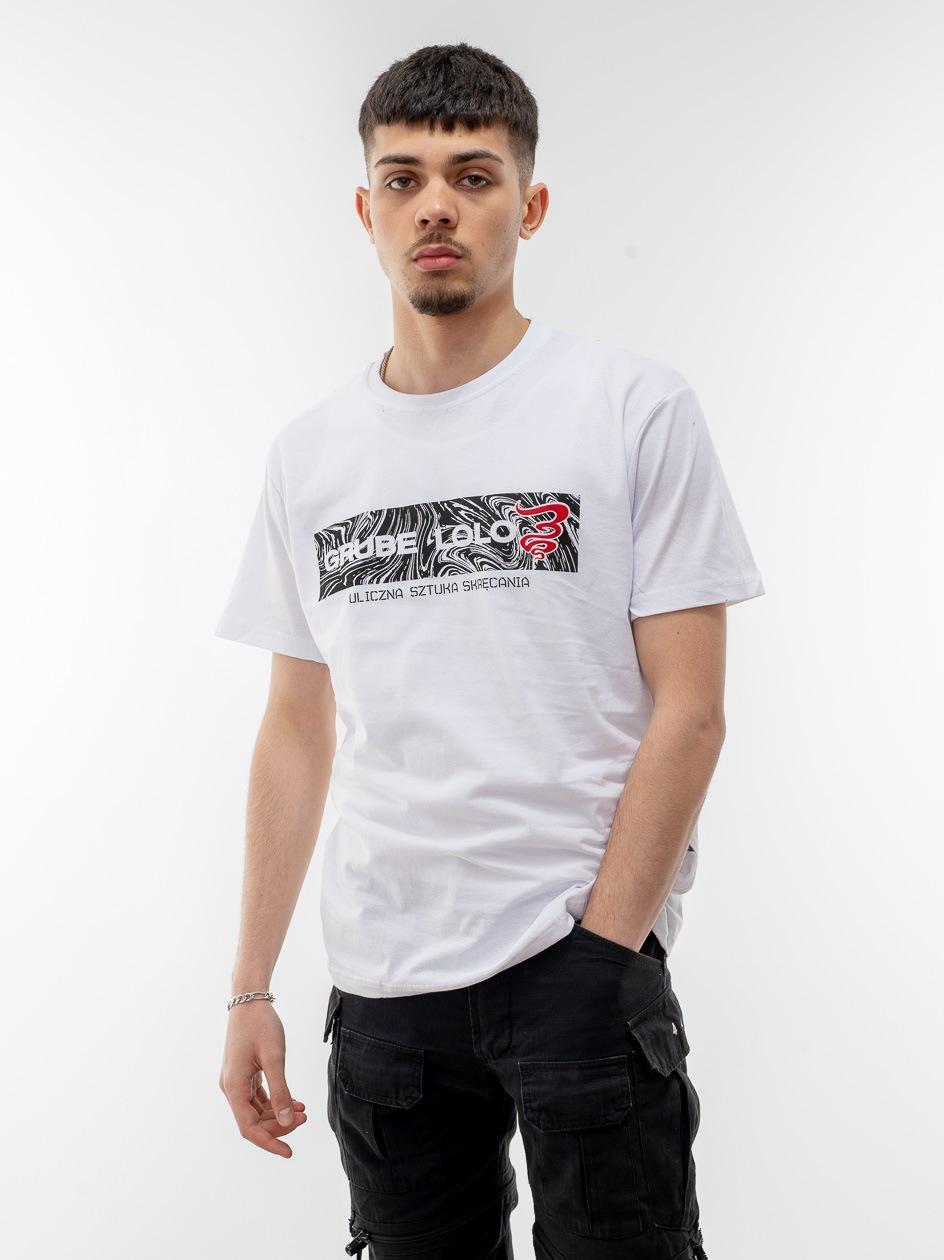 Koszulka Z Krótkim Rękawem Grube Lolo Wavy Box Logo Biała
