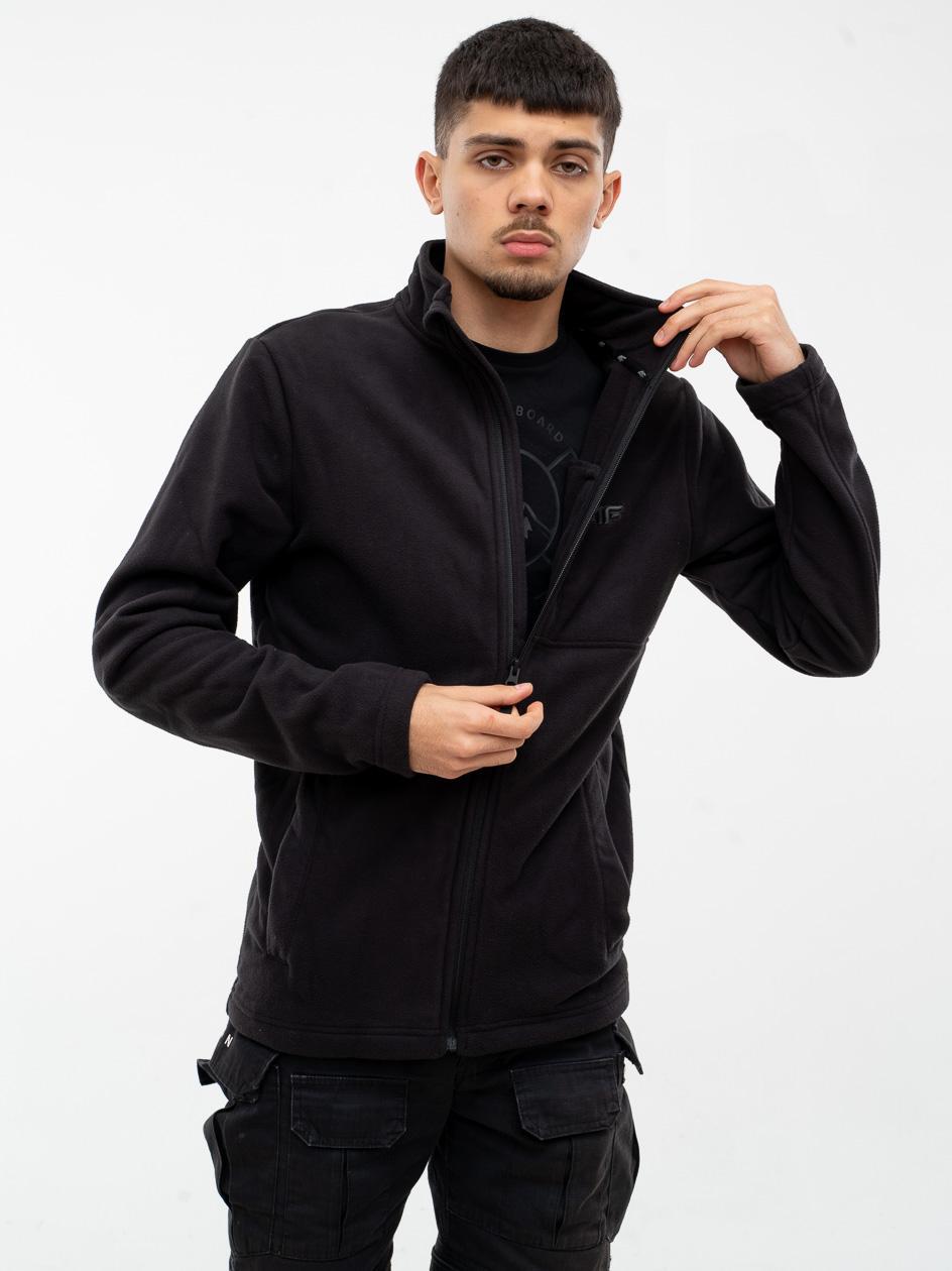 Rozpinana Bluza Polarowa Bez Kaptura 4F Logo Czarna