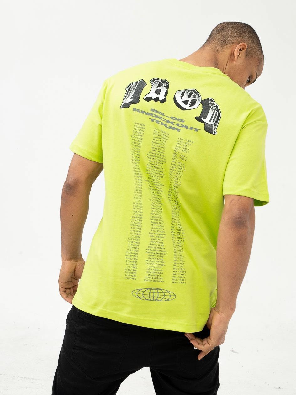 Koszulka Z Krótkim Rękawem Chi Modu Tyson Limonkowa
