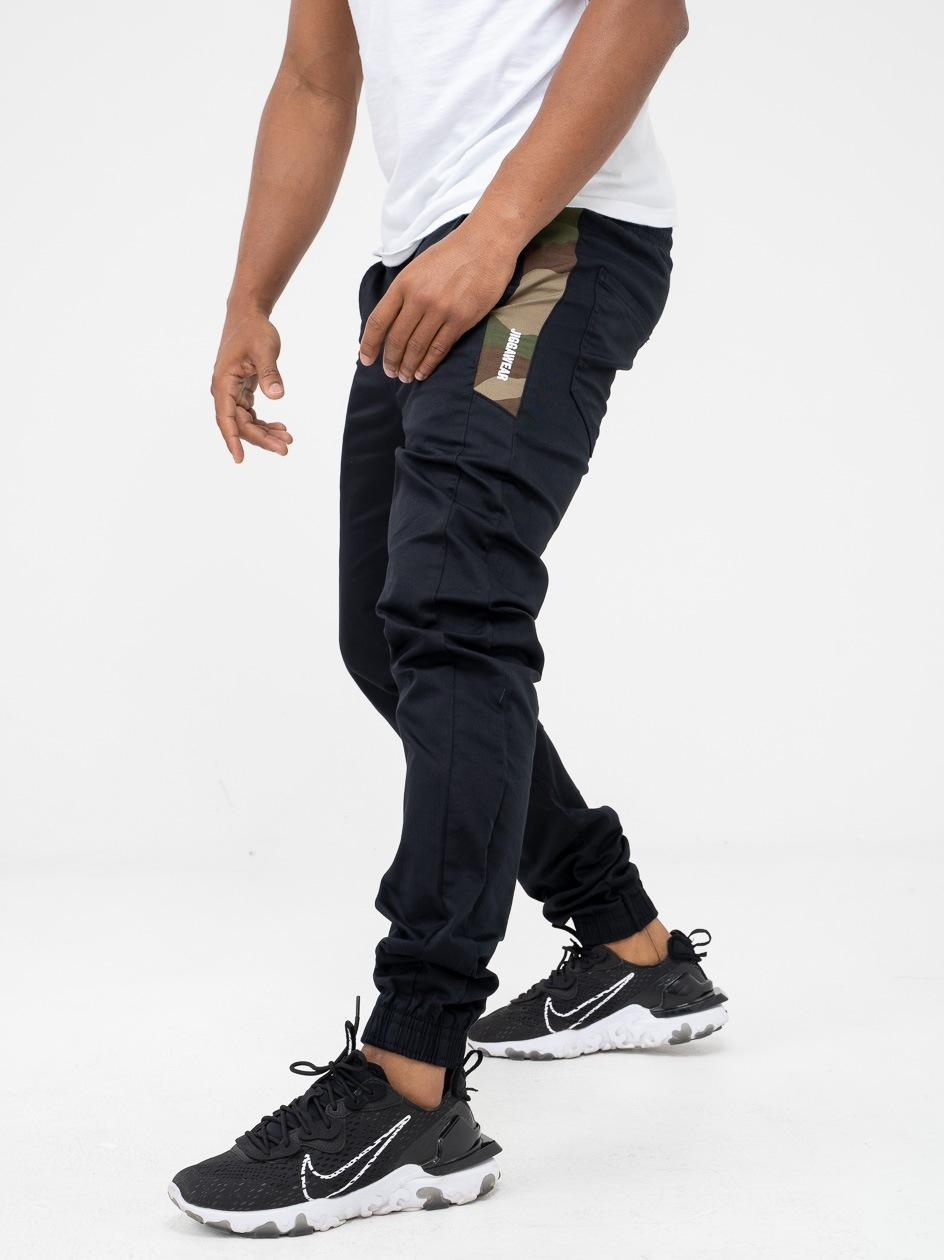 Spodnie Materiałowe Jogger Jigga Vertical Name Czarne