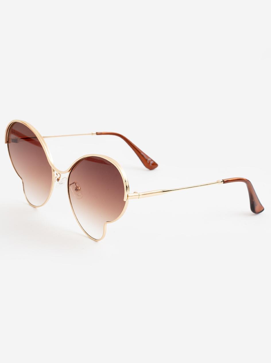 Okulary Przeciwsłoneczne Jeepers Peepers JP18466 Gold Round Złote