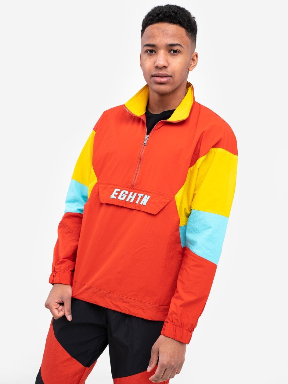 Bluza Rozpinana Do Połowy Z Ortalionu Plus Eighteen EGHTN Pomarańczowa