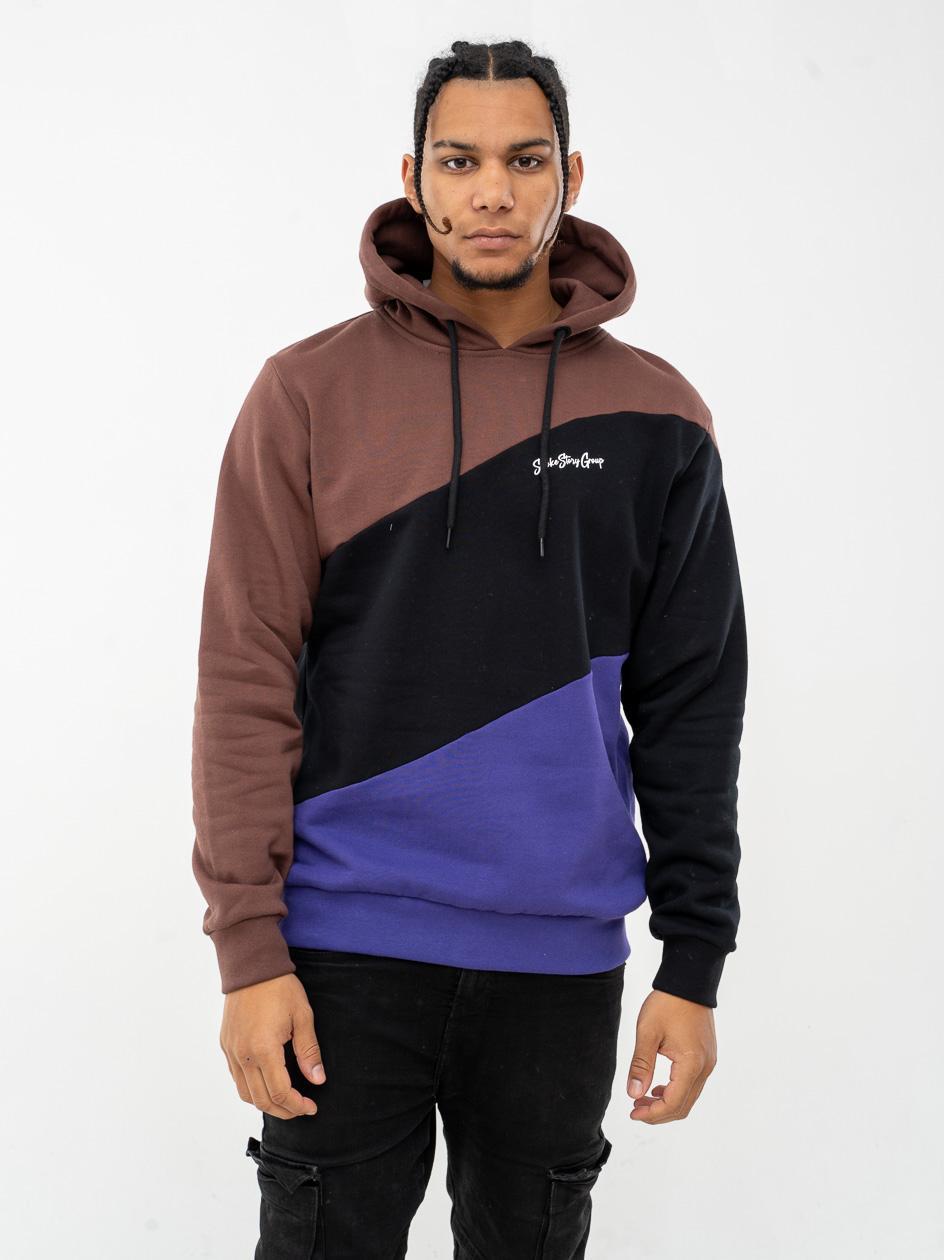 Bluza Z Kapturem Premium SSG Colors Wave Brązowa