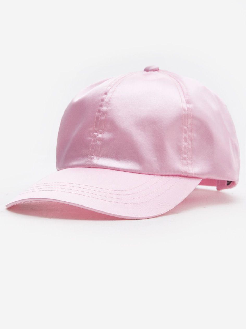 Low Profile Satin Cap Light Pink