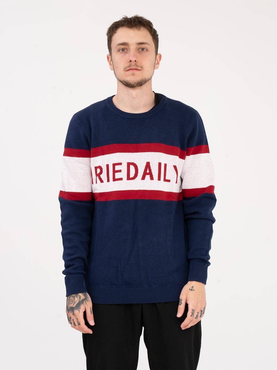 Sweter Iriedaily Big Logo Knit Granatowy